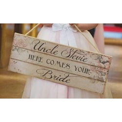 Here Comes Your Bride Plaque